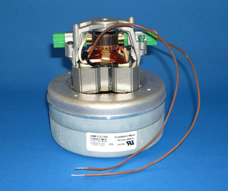 New genuine ametek lamb 2 stage 5 7 vacuum motor 116311 01 glen 39 s vacuum and shampooer supply Lamb vacuum motor parts